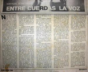 Matapalo (El Telégrafo), 22 de enero de 1989