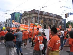 listos para la marcha NDP