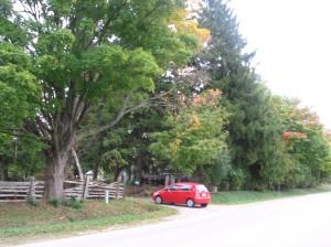 parqueando el descanso en la vecindad del paradero