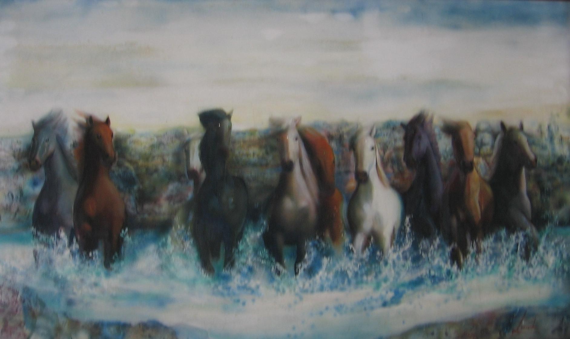 caballos congelados en la conquista de unas tierras trasquiladas por