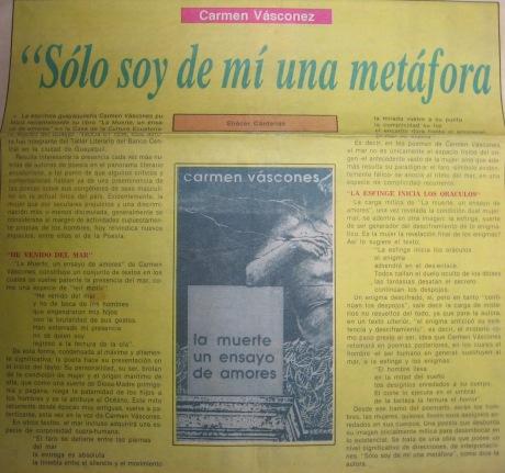 La Muerte ..., La Pluma, El Tiempo 7 Sep 91