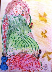 . la temporada en el cuerpo es una acuarela de piel. carmen vascones dibujo