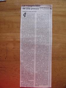 la complicidad en la poesía por Maritza cino alvear, sobre libro la muerte un ensayo de amores de Carmen vàscones