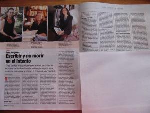 marìa Fernanda espinosa, Carmen vàscones y Gilda holst, revista vistazo, julio 20 de 2000
