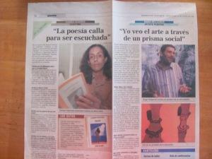 expreso deguayaquil, miercoles 16 de junio de 1999, libro aguaje, carmen vàscones y roger hollander