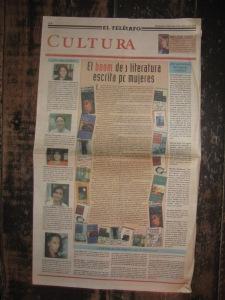 diario el telegrafo, cultura, miercoles 8 de marzo de 2000