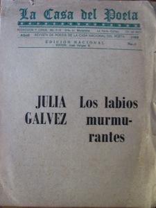 poeta julia galvez, perù