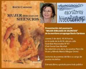 rocìo cardoso, libro  mujer dibujada de silencios