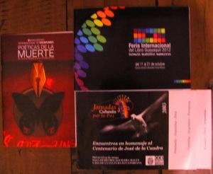 guayaquil, feria internacional del ibro 2012, jornadas culturales por la paz CCE Benajamìn carriòn Quito, 2003, Poèticas de la muerte, CONARTE, Monrerrey, Mexico 2910