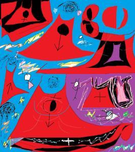 carmen vàscones y su dibujo 8 de marzo 2015