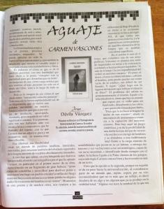 carmen vàscones y libro aguaje 1999