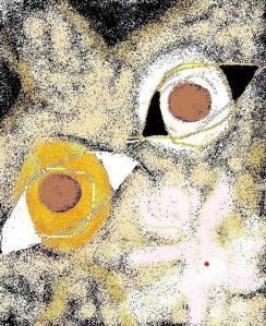carmen vàscones, su dibujo fusiòn del dìa y la noche
