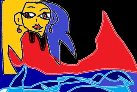 carmen váscones dibujo sirena