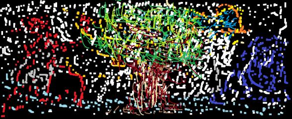 puntadas de color