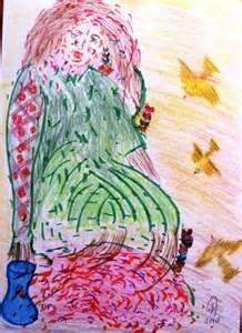 carmen váscones y su dibujo mujer naturaleza del agua