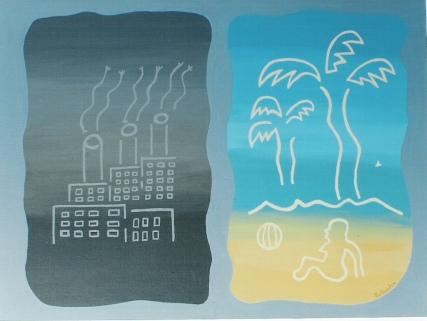 roger hollander y su pintura dream factory