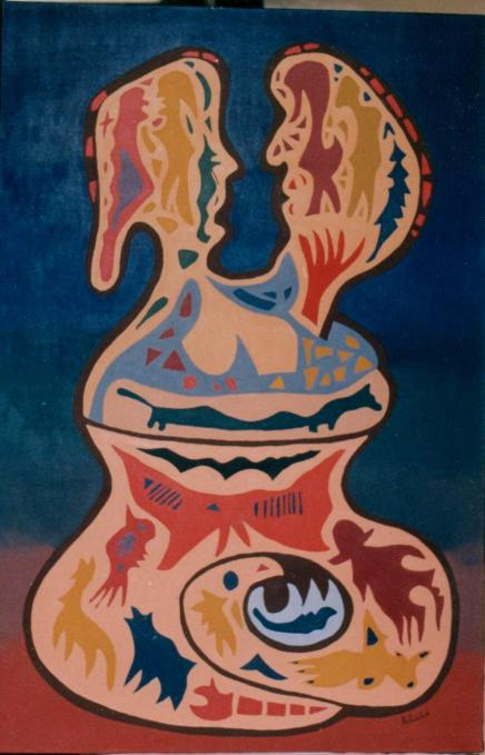 roger hollander y arte vasija matrimonial
