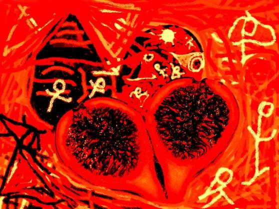 carmen váscones y dibujo ofrenda del higo 3