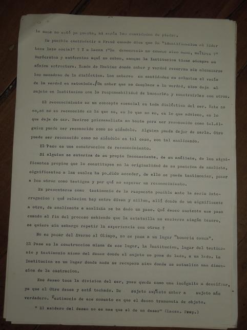 pedro oyervide :el psicoanálisis y su transmisión.páginas del 23 al 27. /El iniciador en Ecuador de una palabra fundante diferente/