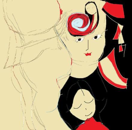 carmen váscones y dibujo mar rojo