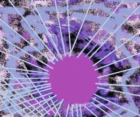 carmen váscones y su dibujo sol lila 2016