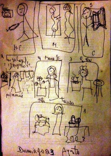 generación filial materna dibujo de carmen váscones